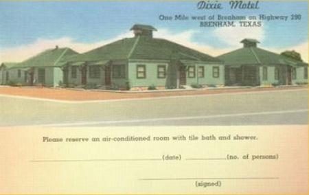 Dixie Motel Brenham Tx
