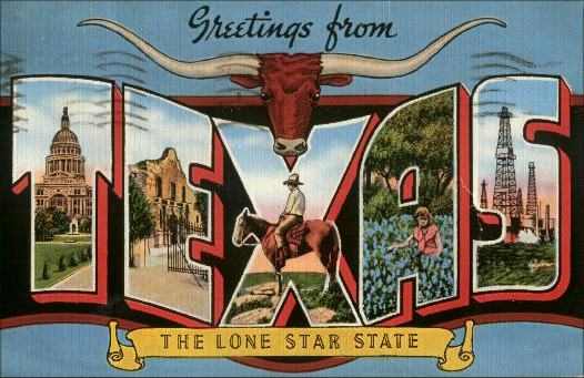Texas post cards greetings from texas m4hsunfo