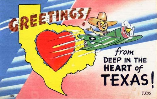 Texas post cards greetings from texas deep in the heart of tx m4hsunfo
